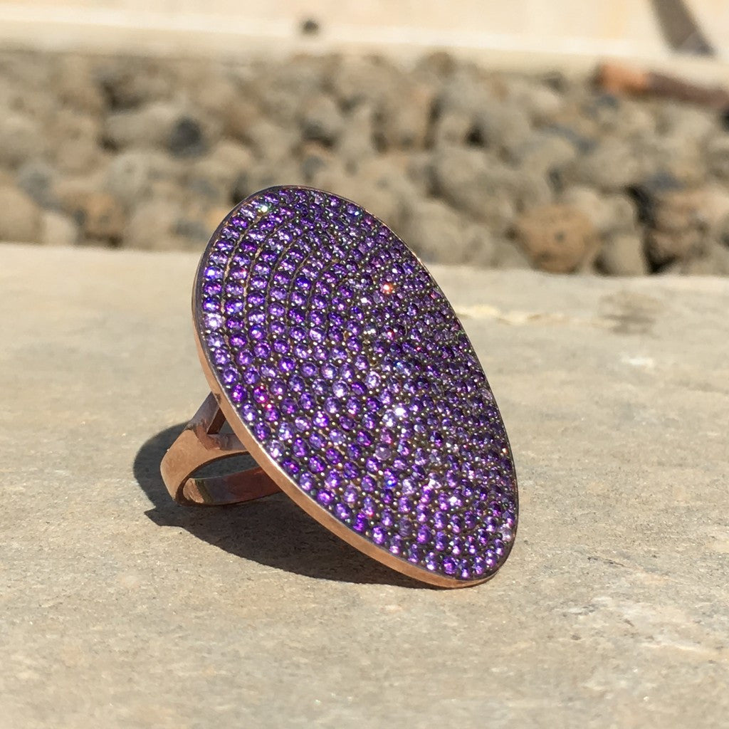 St Tropez Ring Rosegold Amethyst Zircon - Stylemindchic Boutique - Curated Collections - 4