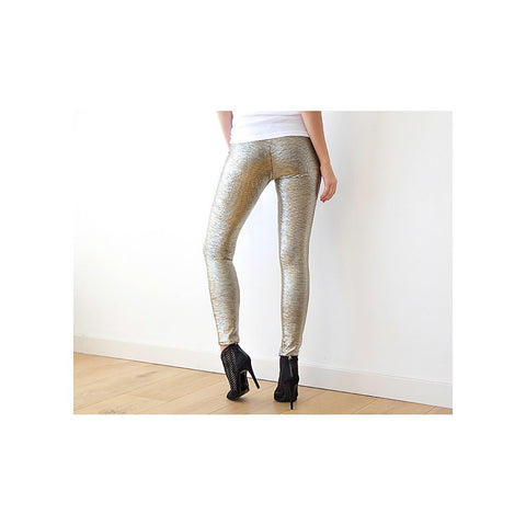 Metallic gold sparkling leggings - Stylemindchic Boutique - Curated Collections - 2