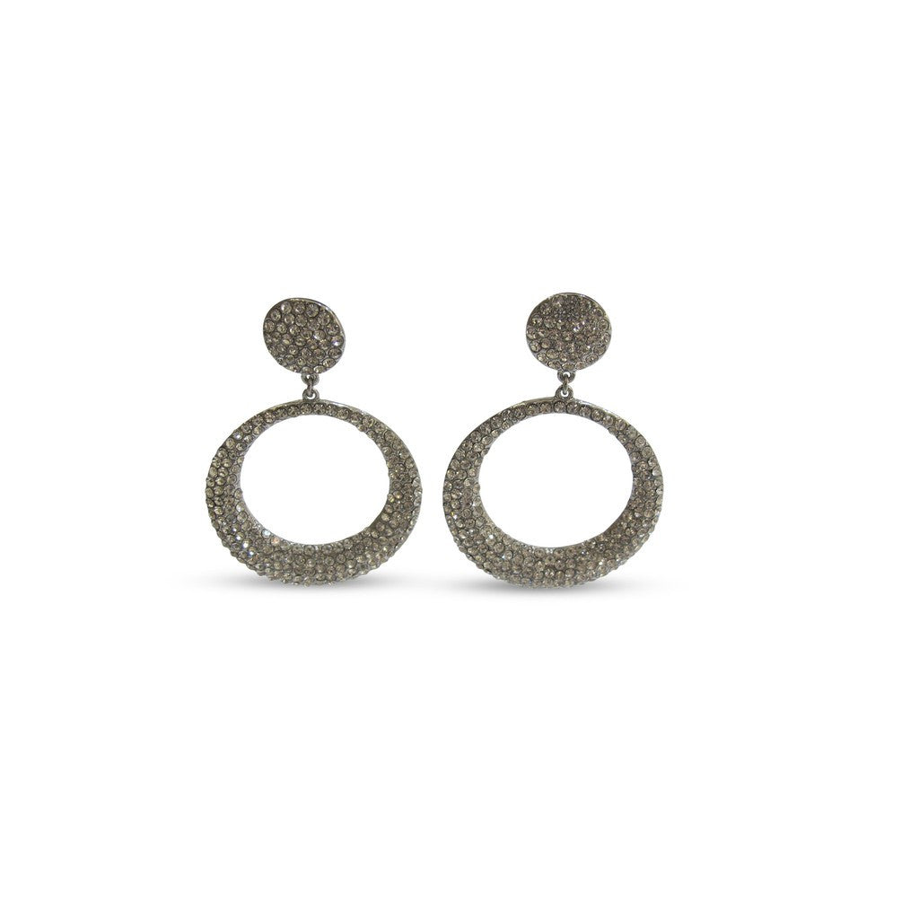 Izoa Adriana Round Earrings Silver - Stylemindchic Boutique - Curated Collections - 2
