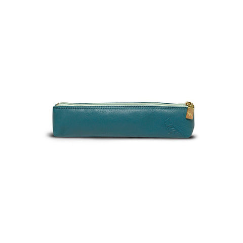 Blue Leather Pencil Pouch - Longspur - Stylemindchic Boutique - Curated Collections