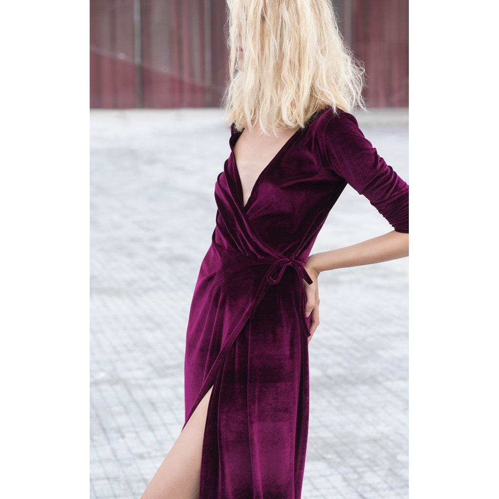 Velvet shirt dress - Stylemindchic Boutique - Curated Collections - 3