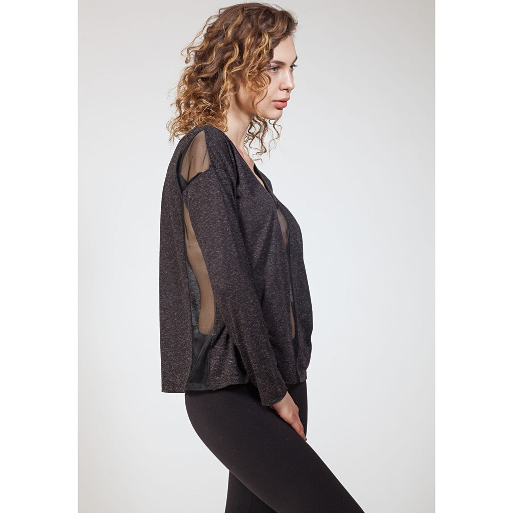 Mix Mesh Panel Sweatshirt - Stylemindchic Boutique - Curated Collections  - 2