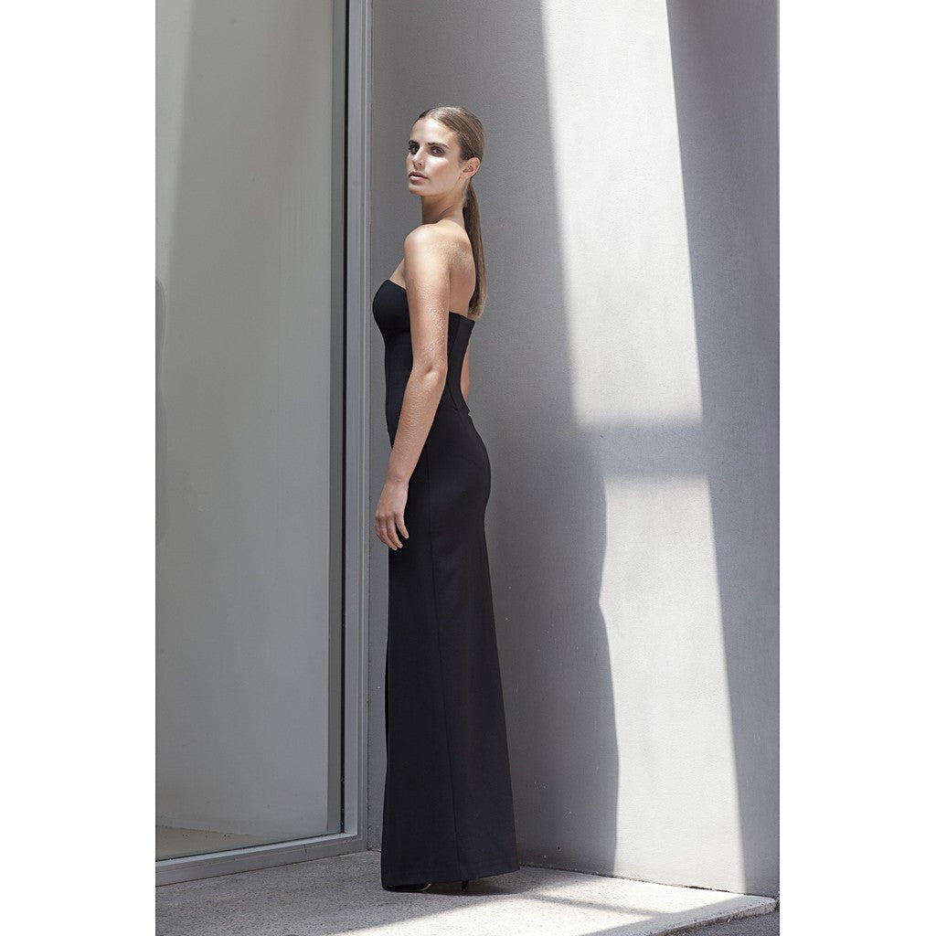 'No Limit' Split Ponte Dress in Black - Stylemindchic Boutique - Curated Collections - 3