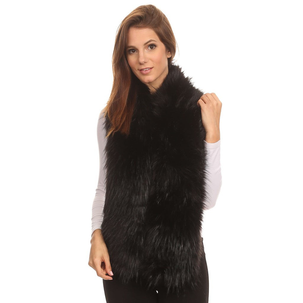 Faux Fur Stole Long