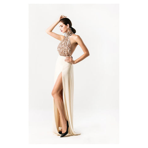 Sequin Halter Gown - Stylemindchic Boutique - Curated Collections - 2