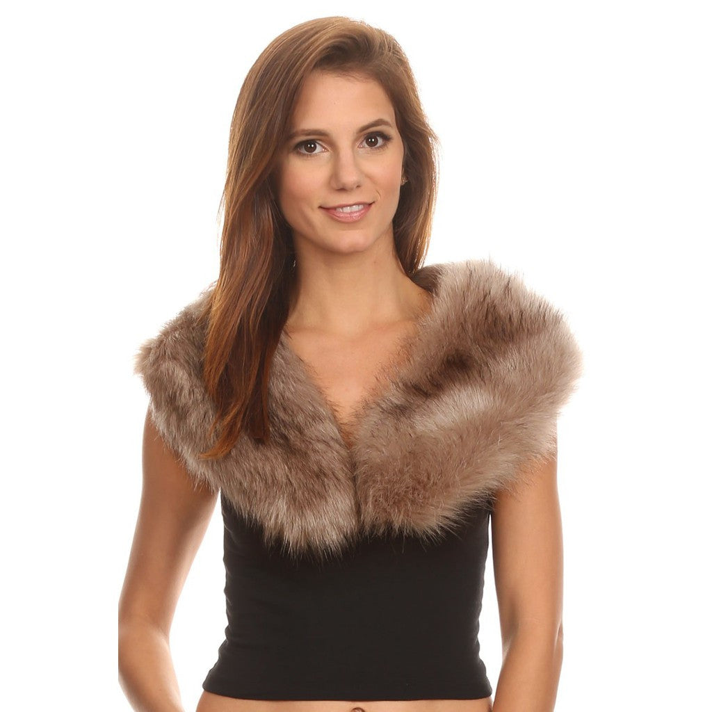 Faux Fur Collar Stole - Stylemindchic Boutique - Curated Collections - 1