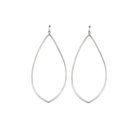 Silver Teardrop Hoops - Stylemindchic Boutique - Curated Collections