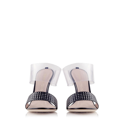 PRINCIPESSA Pyramid Leather and PVC Mule - Stylemindchic Boutique - Curated Collections  - 2