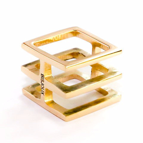 Modern Chic- Squared Ring  designed by Bisjoux