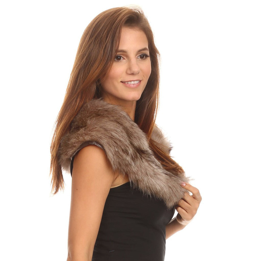 Faux Fur Collar Stole - Stylemindchic Boutique - Curated Collections - 2