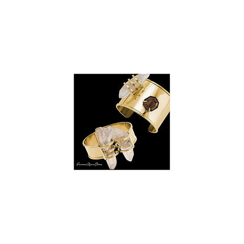Double Rock Crystal Gold Cuff - Stylemindchic Boutique - Curated Collections - 2