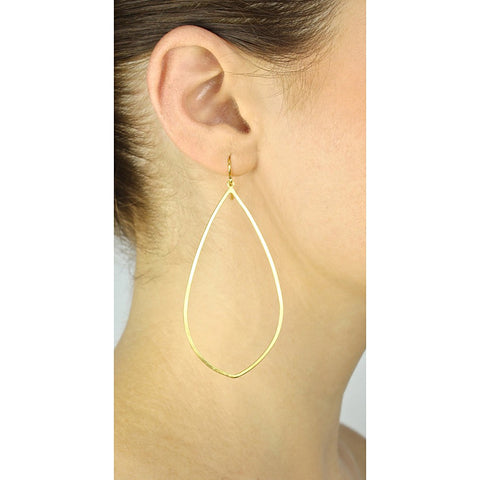 Gold Teardrop Hoops - Stylemindchic Boutique - Curated Collections - 2