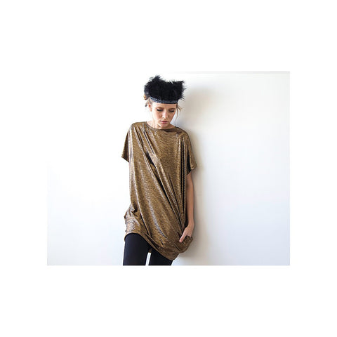 Metallic bronze tunic with pockets - Stylemindchic Boutique - Curated Collections - 1