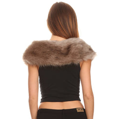 Faux Fur Collar Stole - Stylemindchic Boutique - Curated Collections - 3