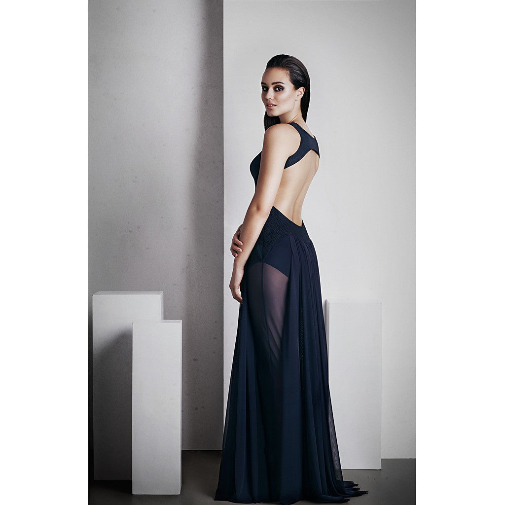 'Ophelia' Full Length Dress - French Navy - Stylemindchic Boutique - Curated Collections - 2