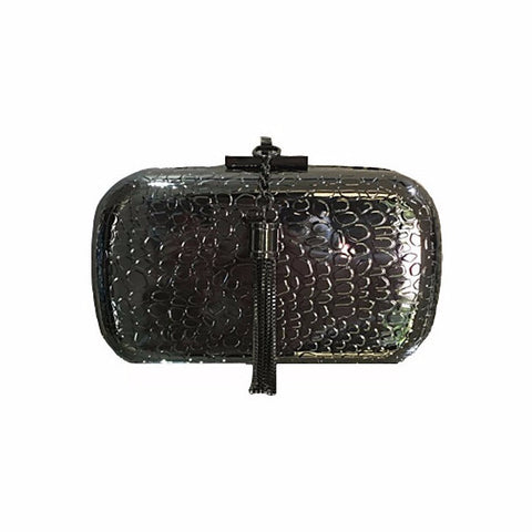 Izoa Beatrice Clutch Gunmetal - Stylemindchic Boutique - Curated Collections