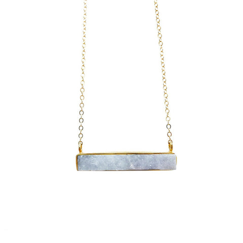 Druzy Bar Necklace - Stylemindchic Boutique - Curated Collections - 1