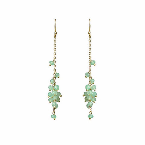 """ Waterfall"" Chrysoprase Cascading Cluster Earrings by Gena Myint"