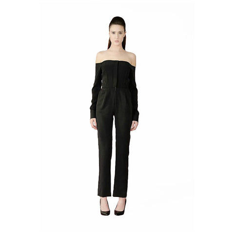'Raine' Off the Shoulder Jumpsuit by Jessica Faulkner - Los Angeles