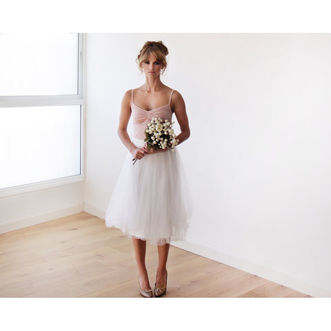 Ivory tulle midi bridal skirt - Stylemindchic Boutique - Curated Collections - 1