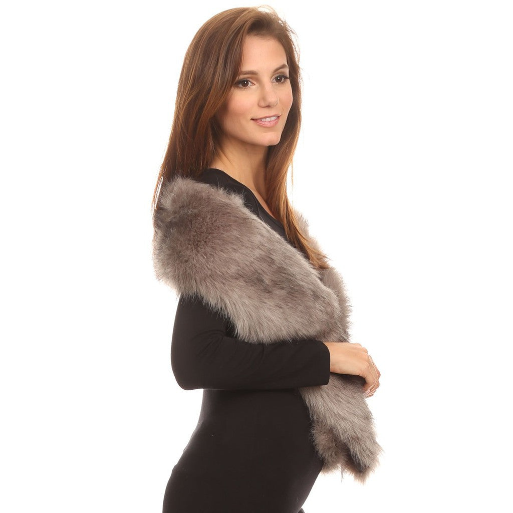 Faux Fur Stole Long - Stylemindchic Boutique - Curated Collections - 2