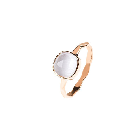 Rose Gold Stacking Ring Moon Stone - Stylemindchic Boutique - Curated Collections
