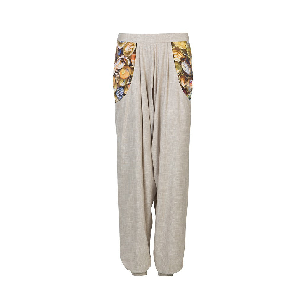 Harrem bamboo pants with digitally printed pockets - Stylemindchic Boutique - Curated Collections - 2