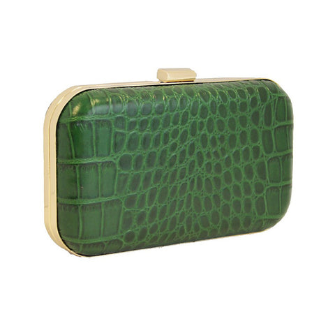 'Green Rose' Croc Embossed Clutch by F&W Style