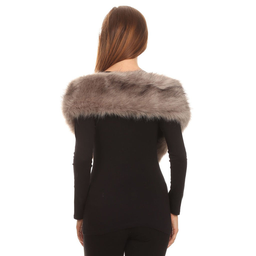 Faux Fur Stole Long - Stylemindchic Boutique - Curated Collections - 3