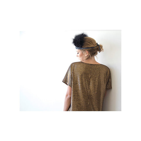 Metallic bronze tunic with pockets - Stylemindchic Boutique - Curated Collections - 2
