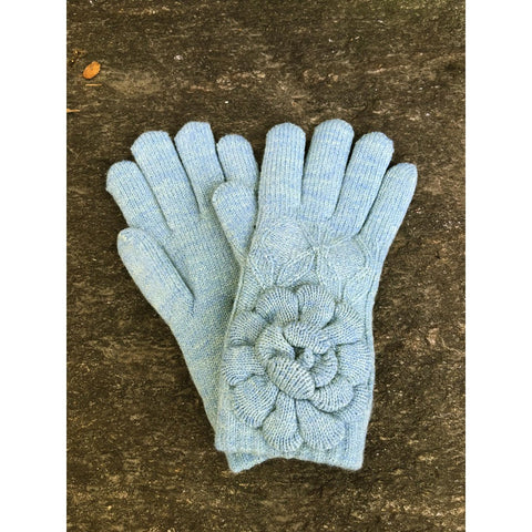 Womens Winter Knit Gloves with Flower Accent Fleece Lined - Stylemindchic Boutique - Curated Collections - 5