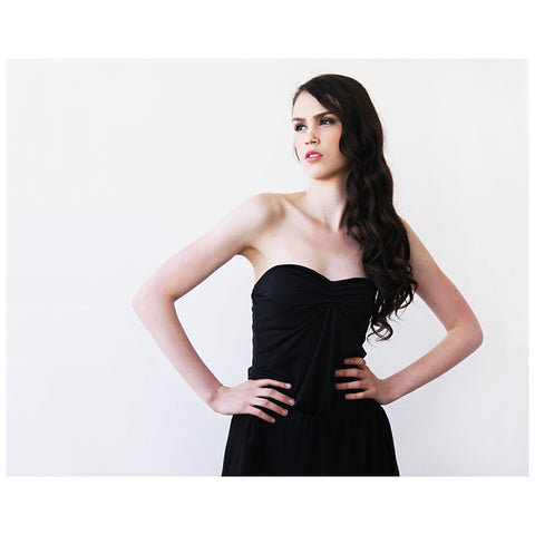 Ballerina Strapless Black Stretchy top - Stylemindchic Boutique - Curated Collections - 1