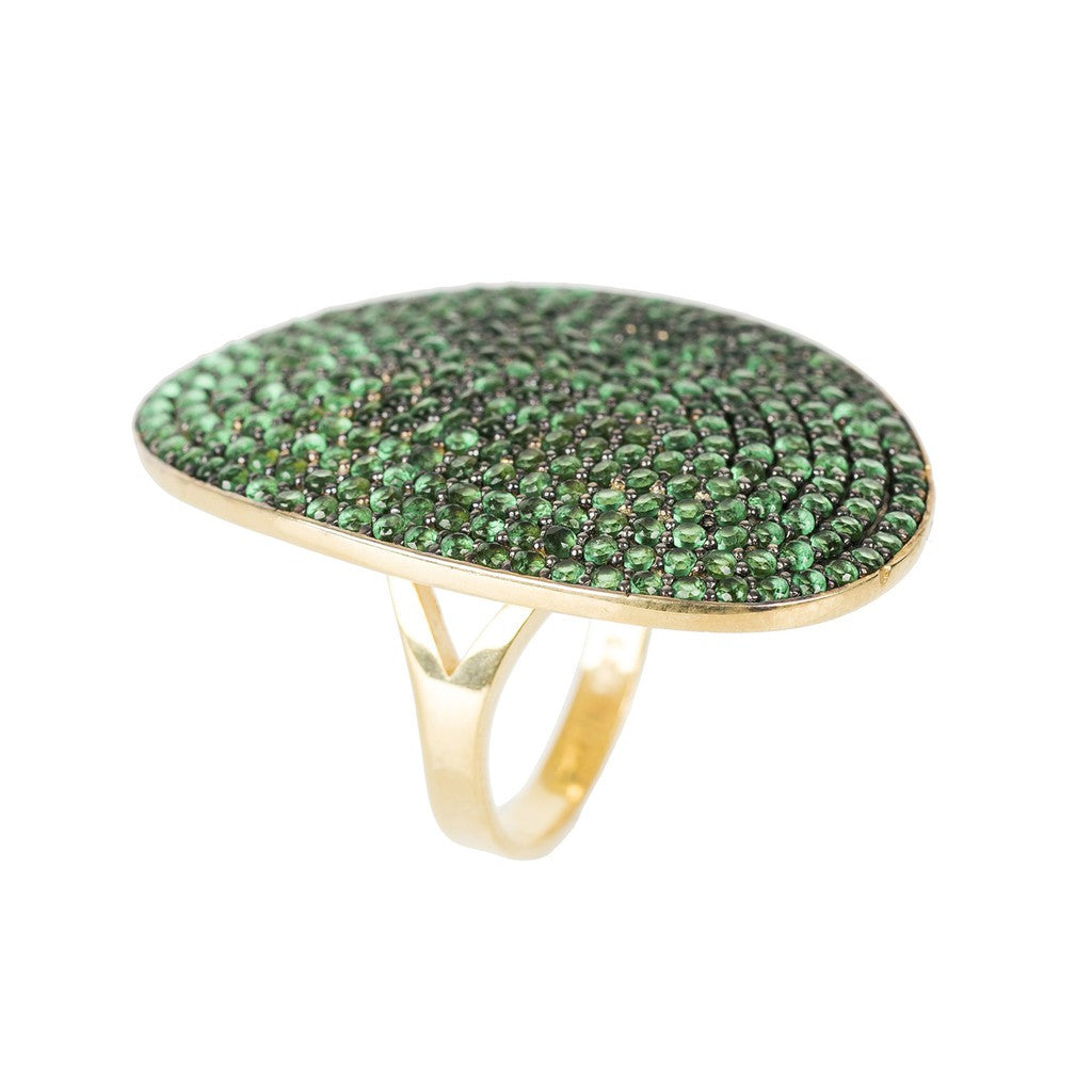 St Tropez Ring Gold Green Zircon - Stylemindchic Boutique - Curated Collections - 1