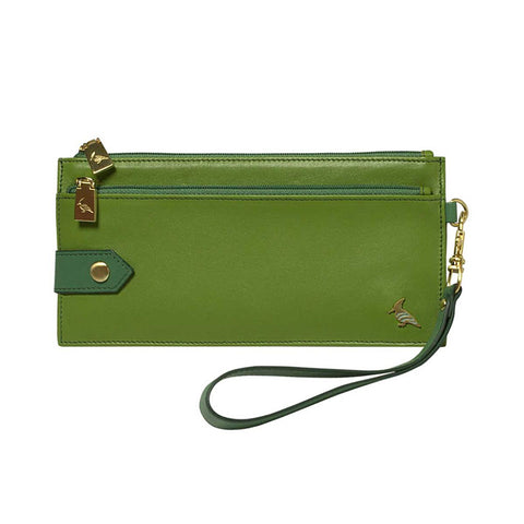 Green Leather Wristlet Wallet - Kiskadee - Stylemindchic Boutique - Curated Collections - 1