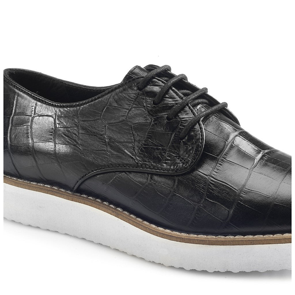 Lilith Black Brogues Street Shoes - Artemisia