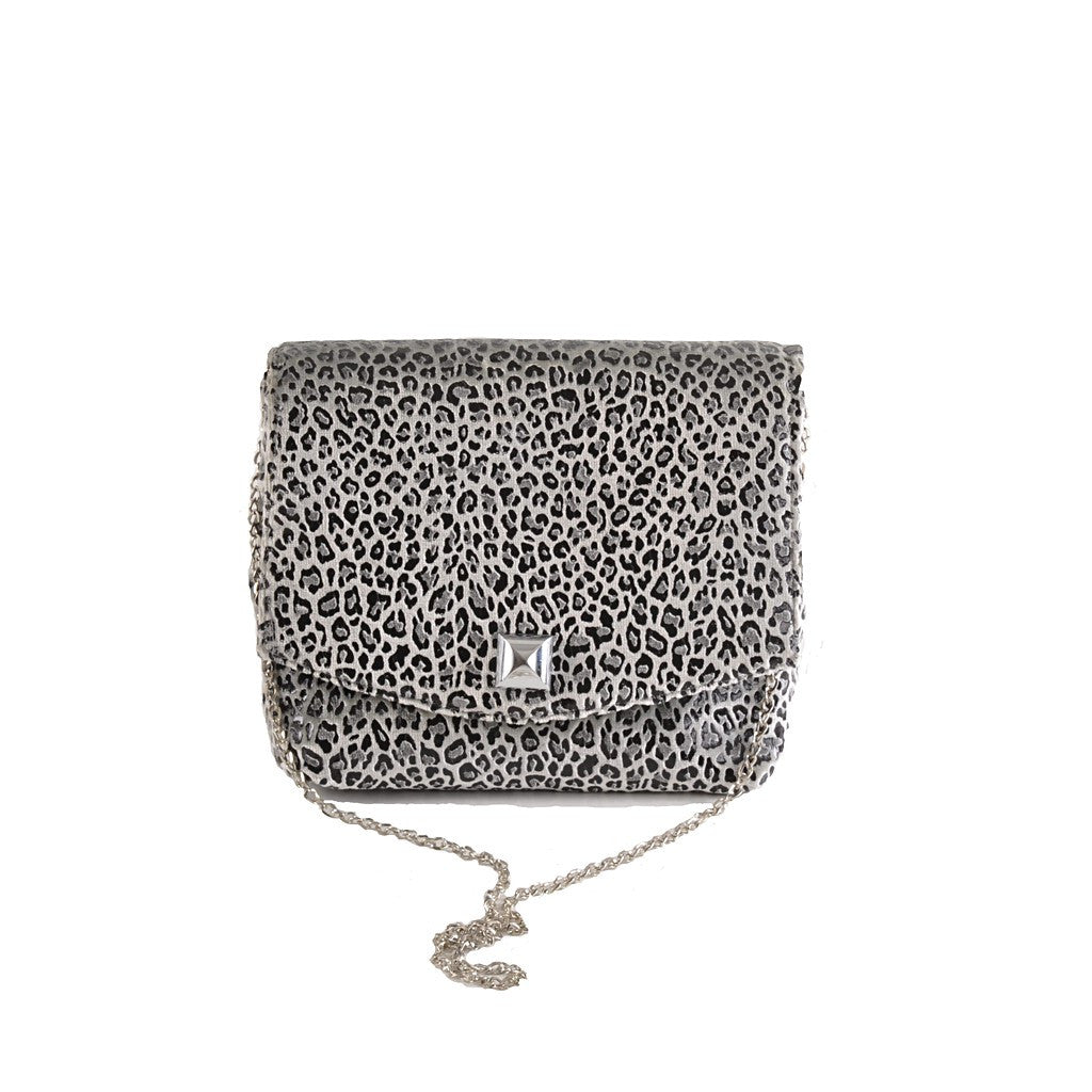 Leopard Silver square clutch - Stylemindchic Boutique - Curated Collections - 1