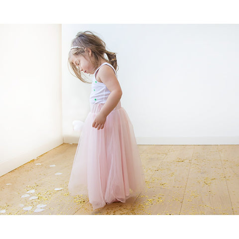 Flower girl tulle maxi pink skirt - Stylemindchic Boutique - Curated Collections - 2