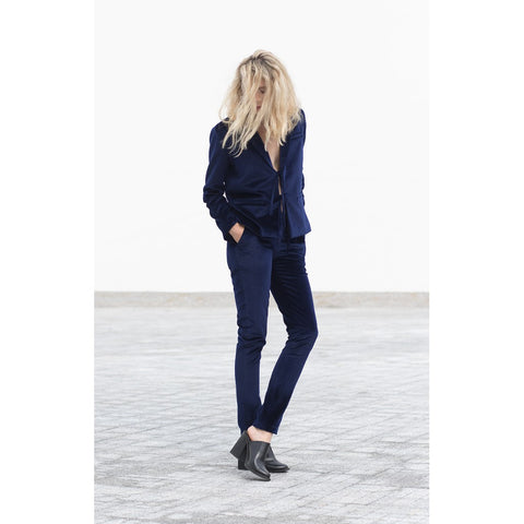 Blue velvet pants - Stylemindchic Boutique - Curated Collections - 2