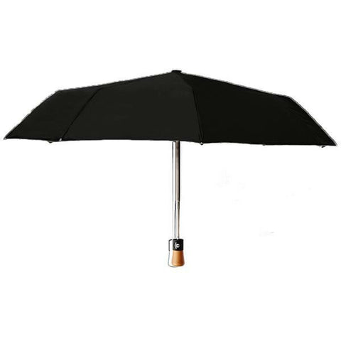 Folding Umbrella - Fiberglass Ribs - Composite Wood Handle - Lenger - France