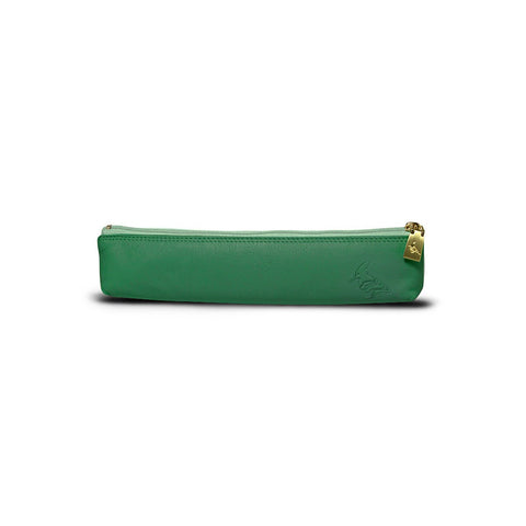 Green Leather Pencil Pouch - Longspur - Stylemindchic Boutique - Curated Collections