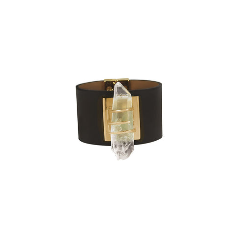 Crystal on Leather Gold Bracelet - Stylemindchic Boutique - Curated Collections - 2