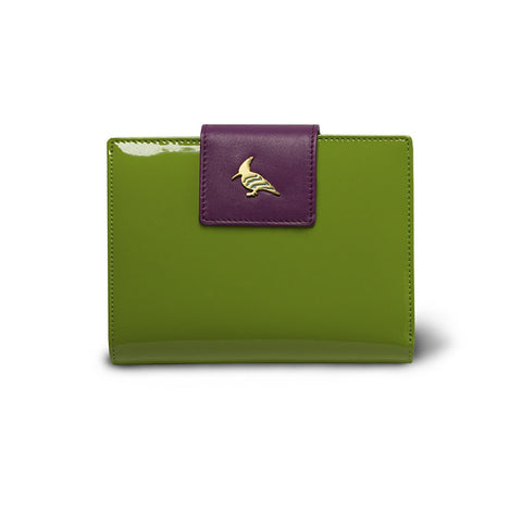 Wren Leather French Style Wallet - Rainforest - By OneOddBird