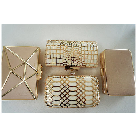"""Grace"" Ivory and Gold Clutch - Izoa - Australia"