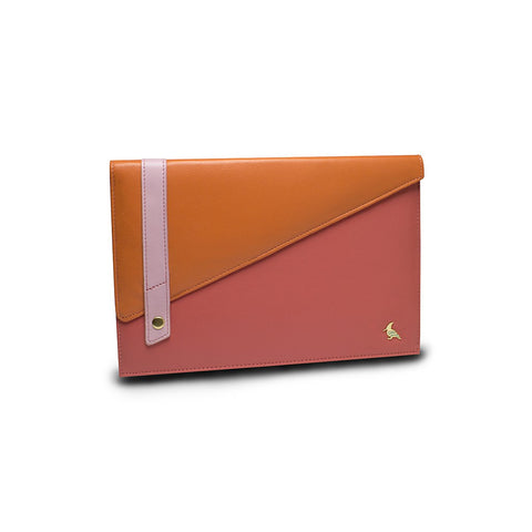 Pink Leather Portfolio Large - Sparrow