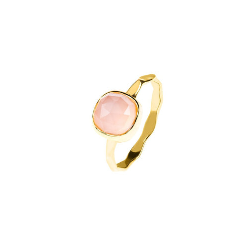 Gold Stacking Ring Rose Quartz - Stylemindchic Boutique - Curated Collections