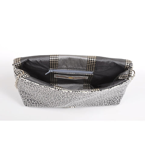 Leopard Silver envelope clutch - Stylemindchic Boutique - Curated Collections - 2