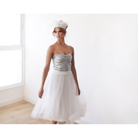 Ivory tulle midi bridal skirt - Stylemindchic Boutique - Curated Collections - 2