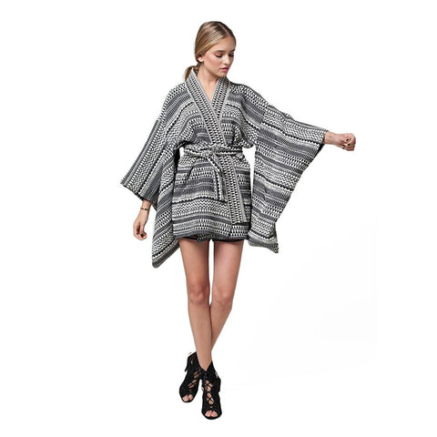 MAI TRIBAL KIMONO SLEEVE JACKET - Stylemindchic Boutique - Curated Collections - 1