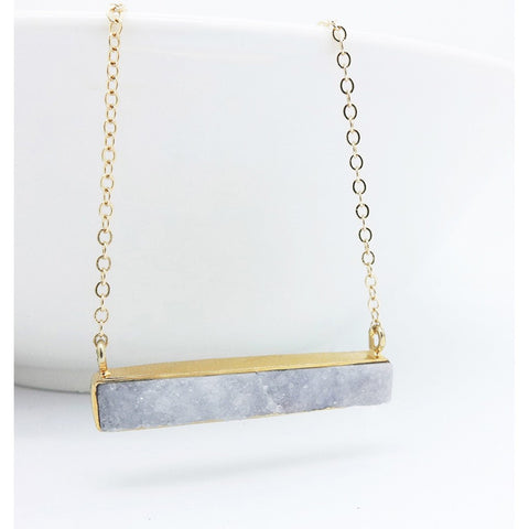 Druzy Bar Necklace - Stylemindchic Boutique - Curated Collections - 2