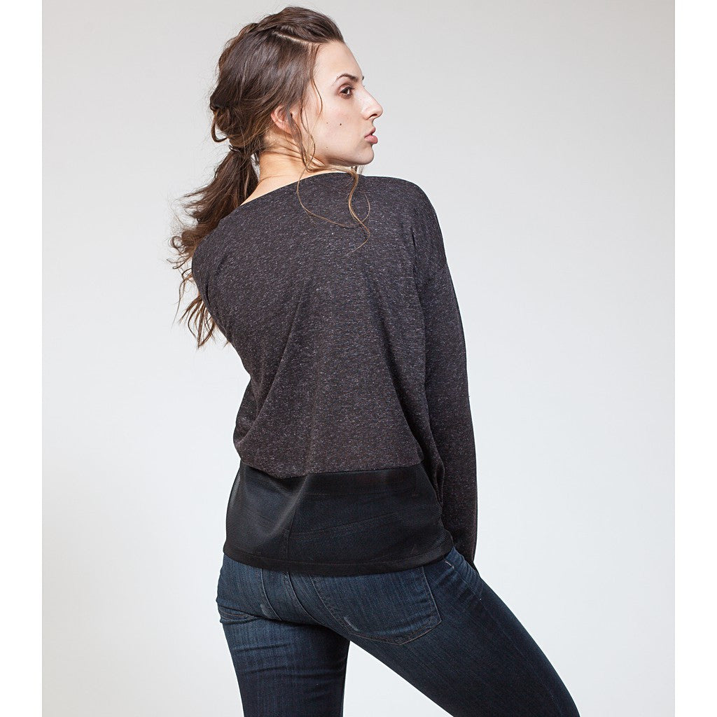 Mesh Yoke Sweatshirt - Stylemindchic Boutique - Curated Collections  - 2